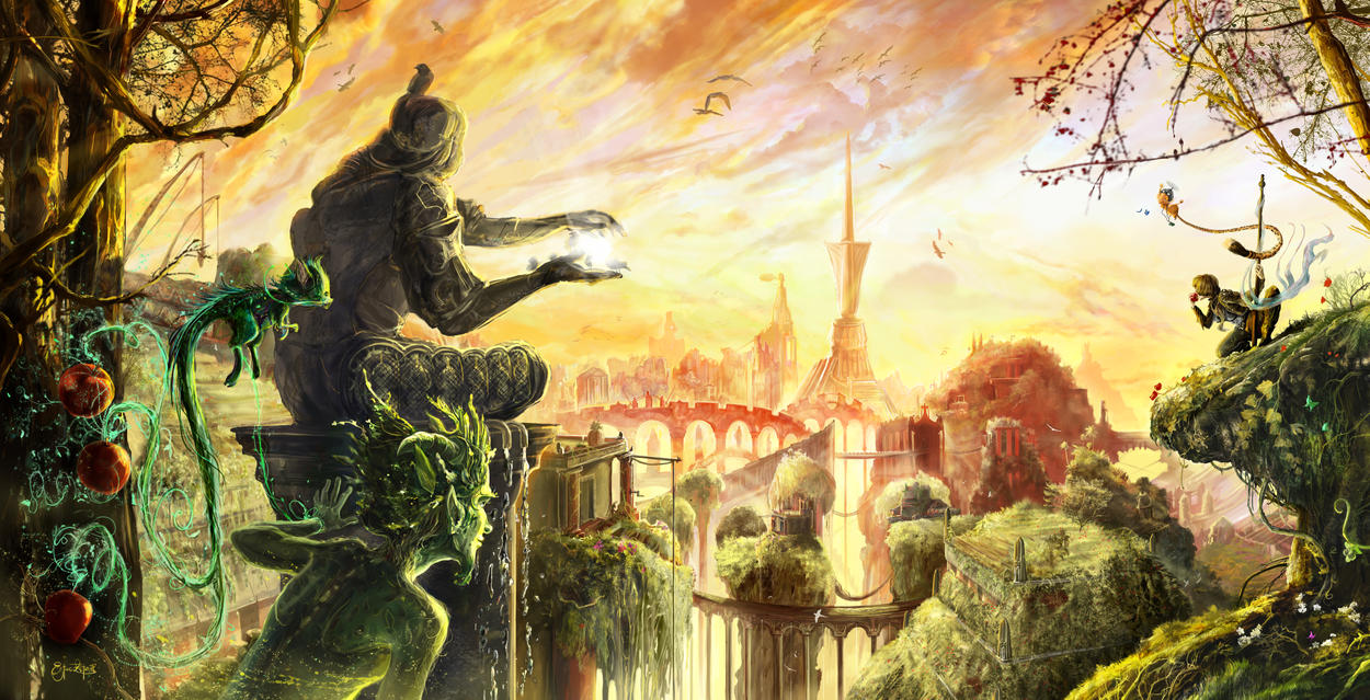 Hanging gardens of babylon by ertacaltinoz on deviantart for When was the hanging gardens of babylon destroyed