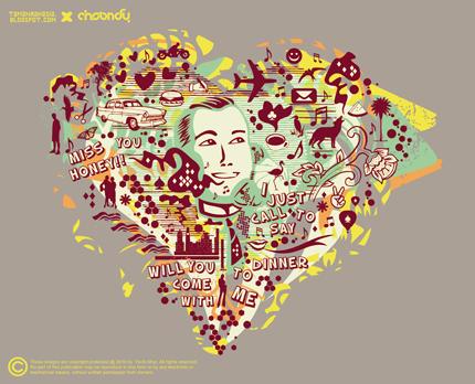 T-shirt Couple_man by Afrar