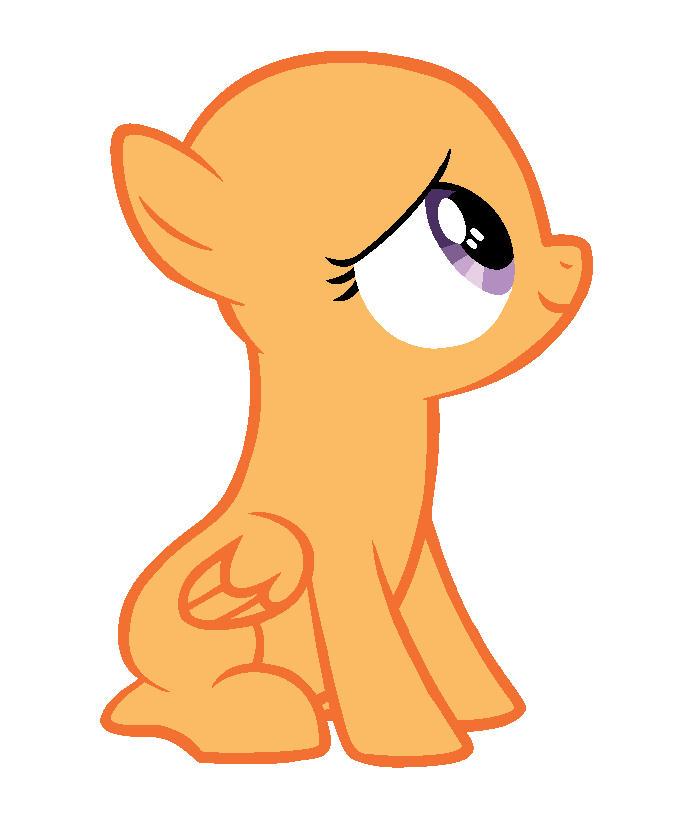 my little pony base pegasus filly
