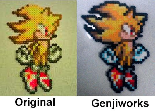 Super Sonic Perler By Genjiworks On Deviantart