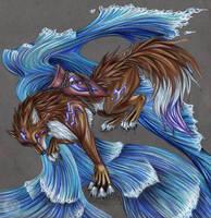 Aquarius Wolf by AbsintheKitsune