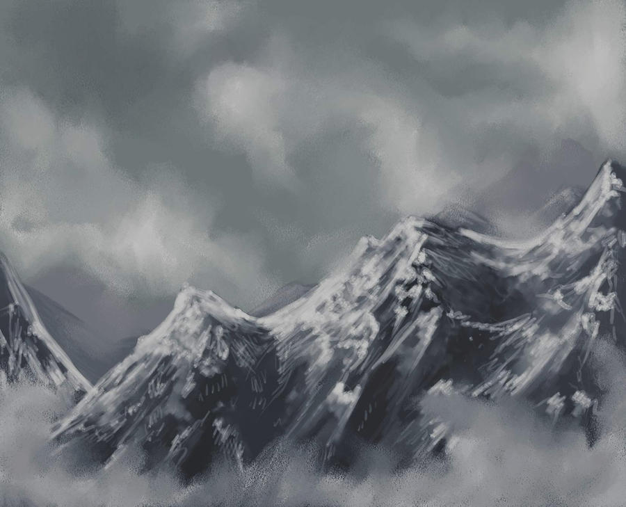 Mountain speedpaint by EnigmaticPhantasy