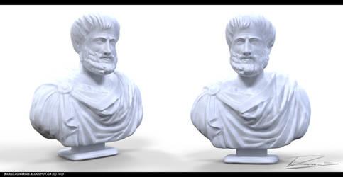 Aristoteles sculpting by babisZArt