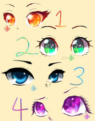 Practicing on drawing different eyes