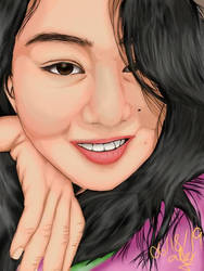 A young Filipina woman