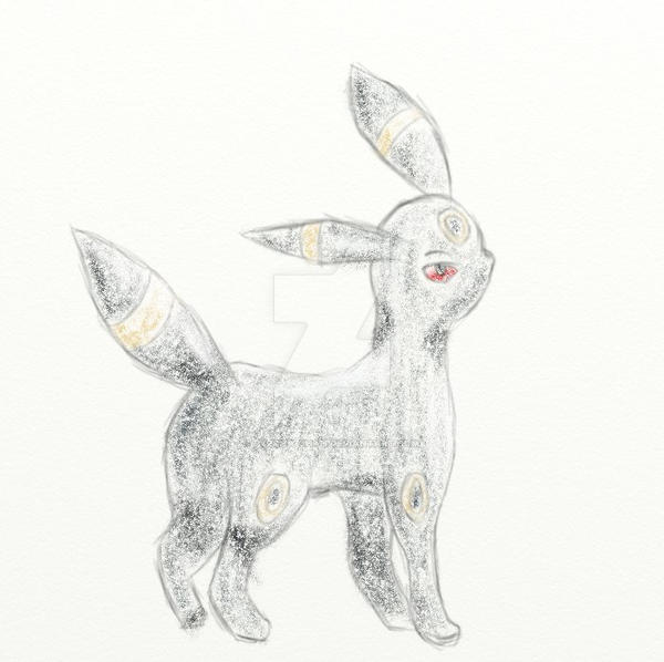 Umbreon pencil, trying out ArtRage by Pyrrha-chan