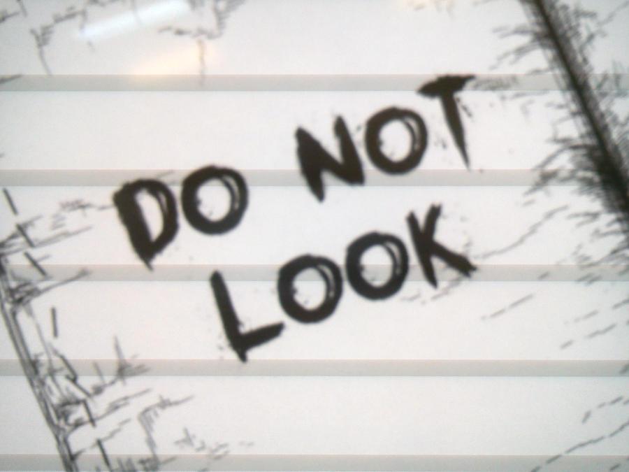 Do not look ! by SecretLaser