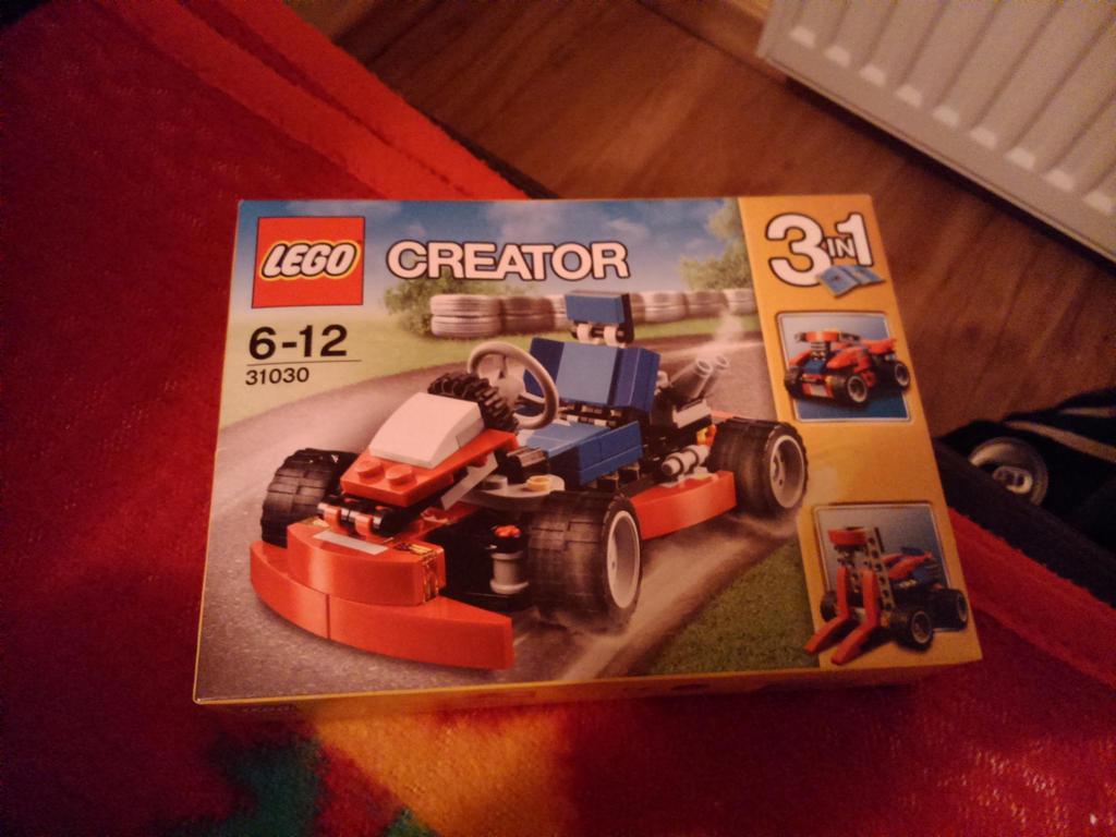 LEGO CREATOR SET 31030 - Red Go-Cart FRONT by SecretLaser