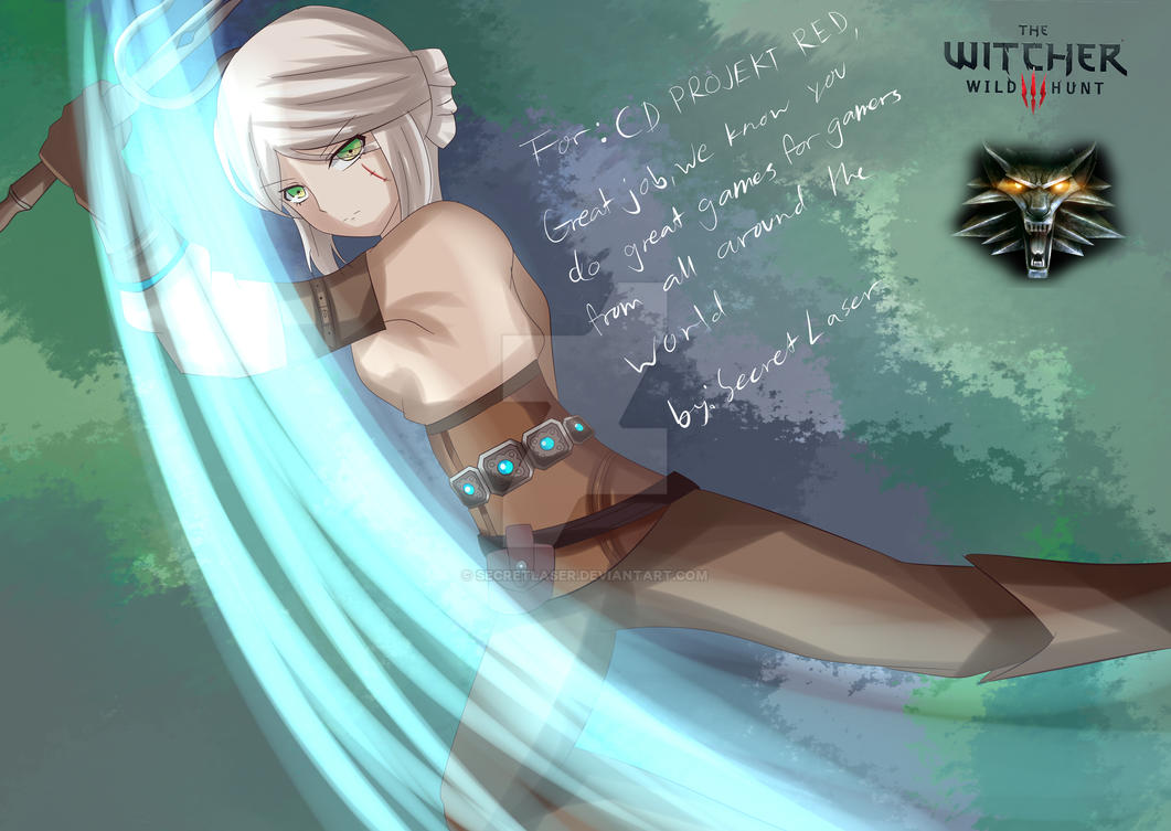 Ciri - Witcher 3 Wild Hunt Drawing by SecretLaser