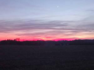 Last sundown in Winter