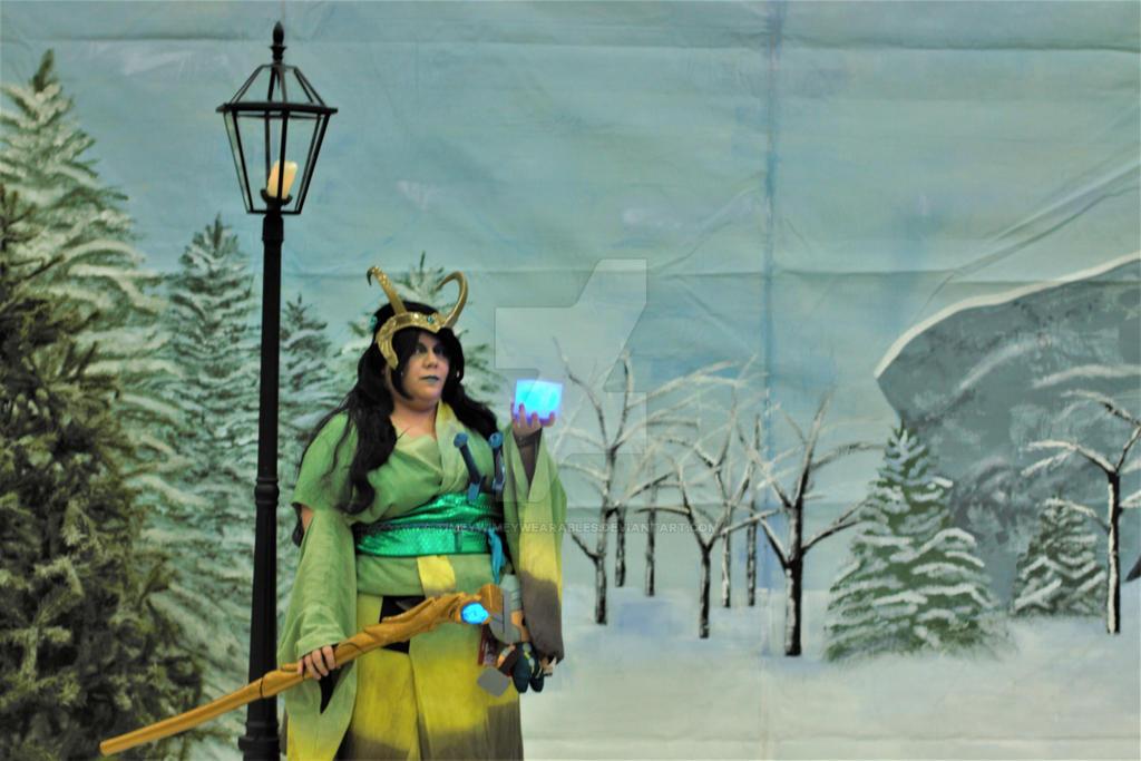 Lady Loki Cosplay Custom Kimono by TimeyWimeyWearables