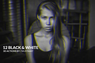 12 Black and White Actions 3D Edition by M-MooG