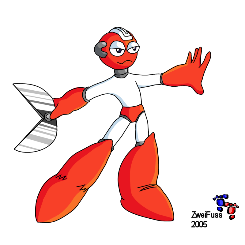 Cutman about to throw scissors by zweifuss