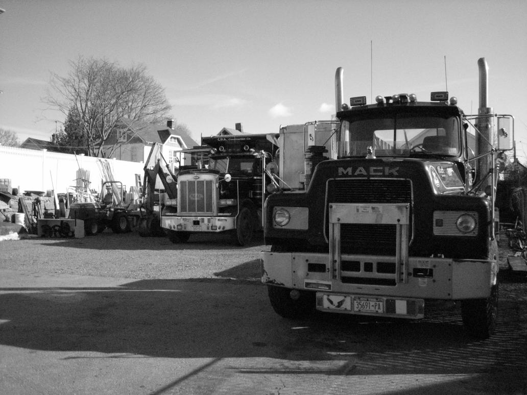 Mack trucks by JackSpade6
