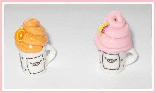 Piggy Mug Charms by softbluecries