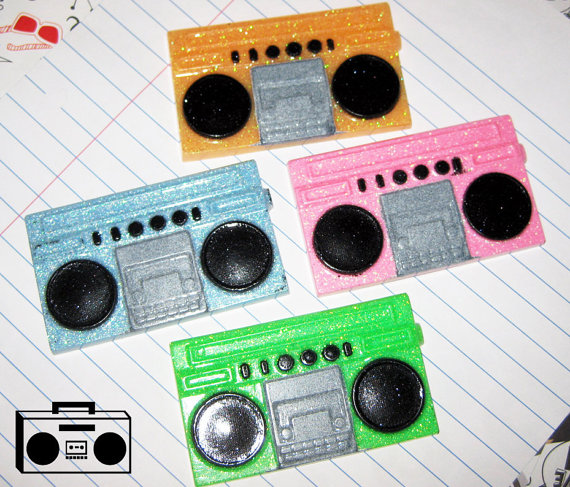 Retro 80s Stereo Magnets by softbluecries