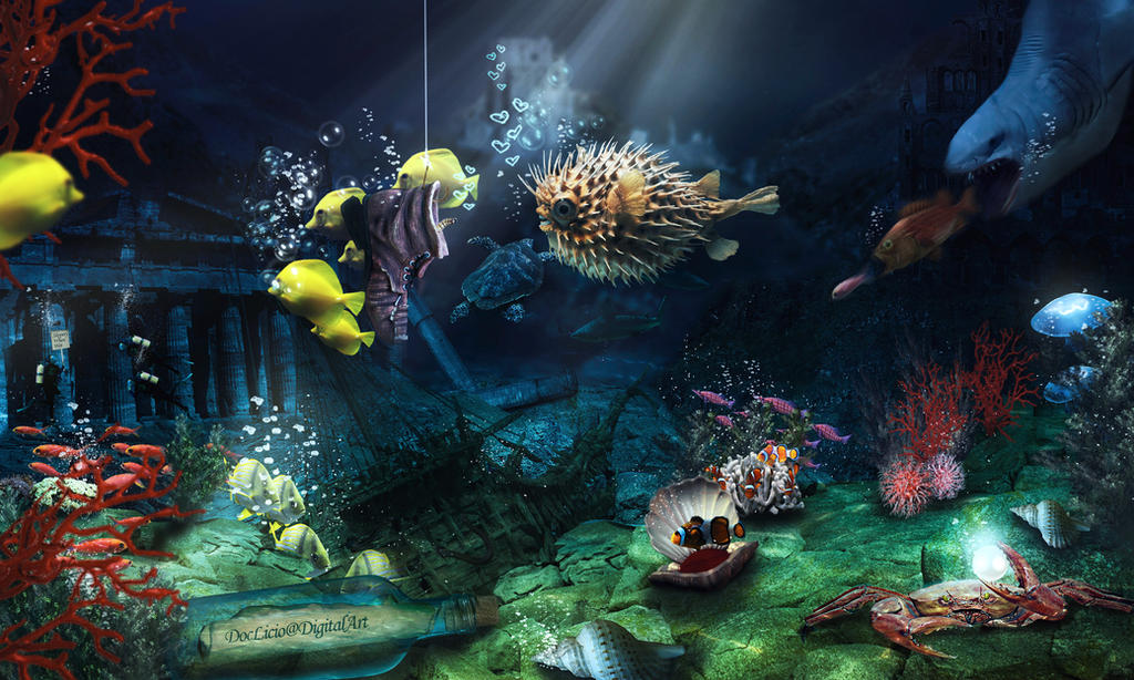 life under sea A coral reef is home to many sea animals and plants many sea animals actually look like plants, too there are lots of plants in the sea, just like on the land but, the plants in the sea are different from plants on land they are able to live under water.