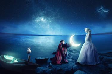 Moon ray in my heart