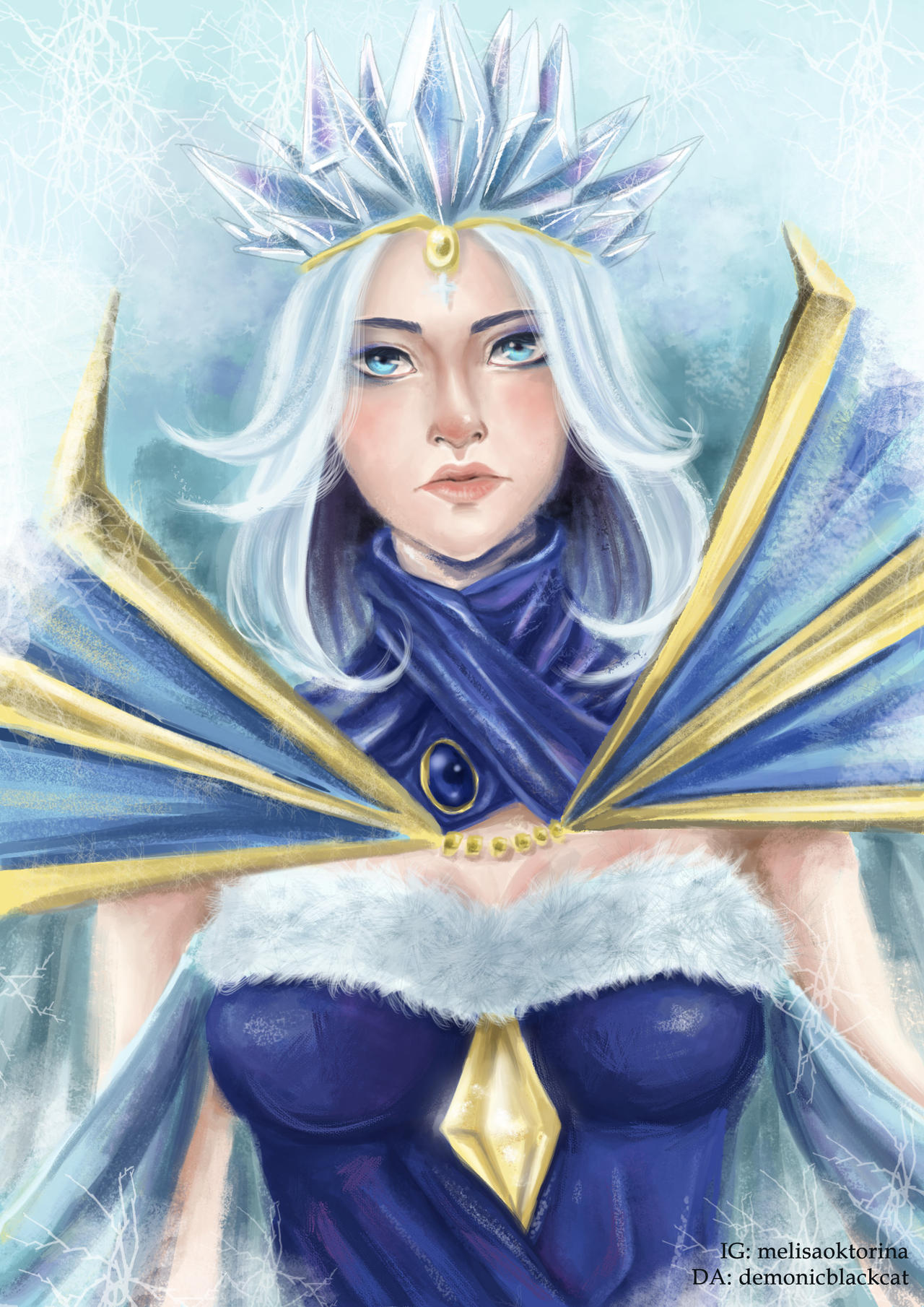 Crystal Maiden - Arcana by DemonicBlackCat on DeviantArt