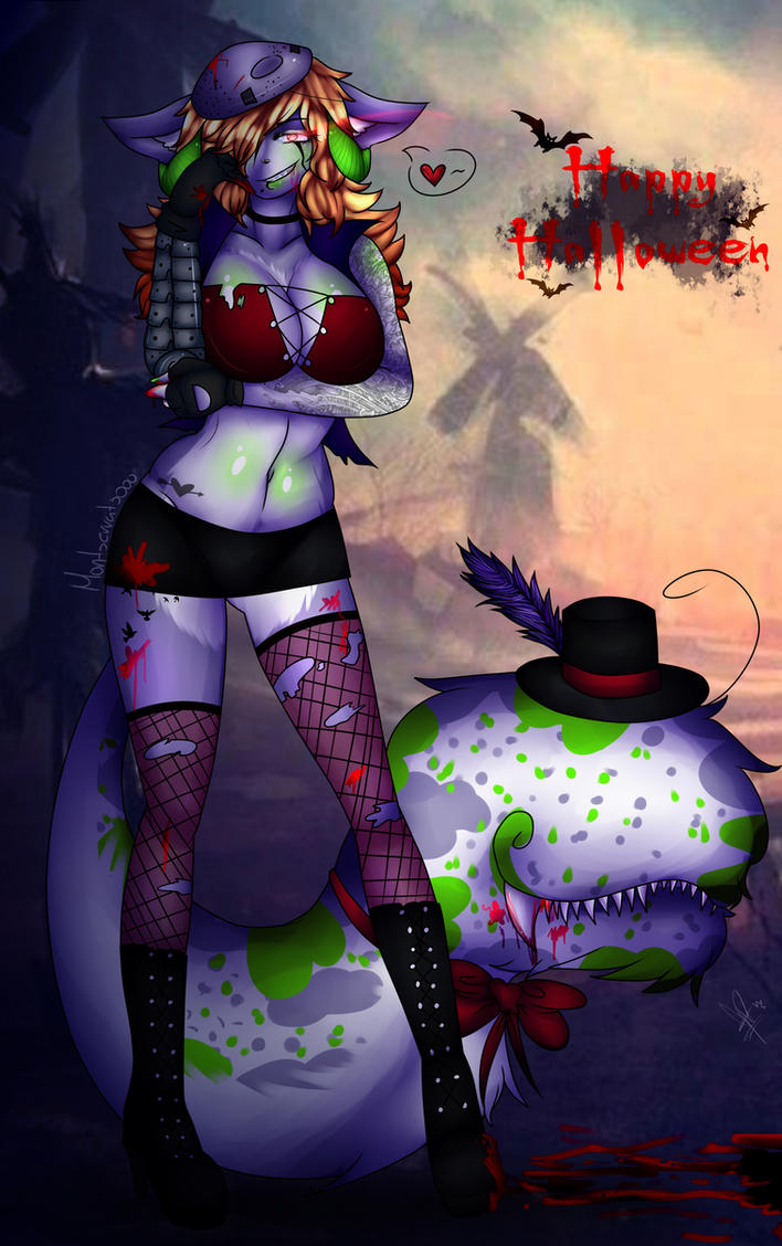 Kimm halloween by Montserrat3000
