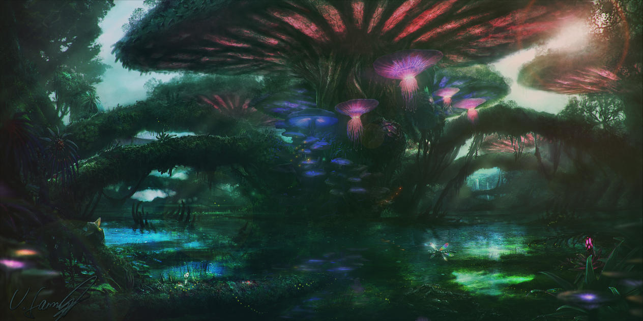 Mushroom Forest by Victor-Lam-art