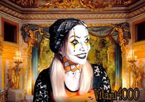Jester/Joker body paint by Vitani4000