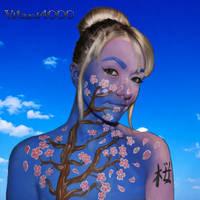 Sakura - Body paint by Vitani4000