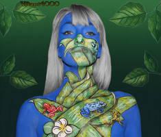 Poison dart frogs II - Body paint by Vitani4000