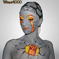 Breaking out of depression -Bodypaint by Vitani4000