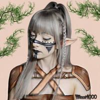 Warrior elf - Body paint by Vitani4000