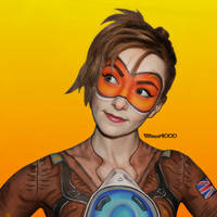 Tracer Overwatch - Bodypaint by Vitani4000