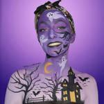 Purple Halloween landscape -  Bodypaint by Vitani4000