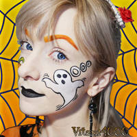 Ghost Face paint by Vitani4000