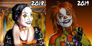 Then and now - 1 year of bodypainting by Vitani4000