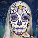 Purple Sugar Skull - Face Paint