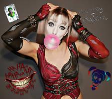 Body paint - Harley Quinn Arkham City by Vitani4000