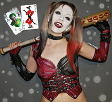 Body paint - Harley Quinn Arkham City II by Vitani4000