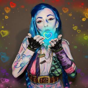 Jinx League of Legends - Body paint/Cosplay
