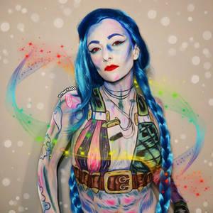 Jinx LoL - Body Paint/Cosplay