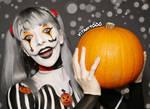 Jack Skellington/Harley Quinn Mashup - Body paint by Vitani4000