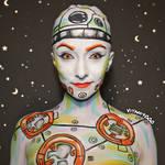 BB8 Humanoid - Body paint by Vitani4000