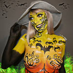 Halloween Witch - Bodypaint