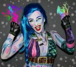 Jinx LOL - Body paint