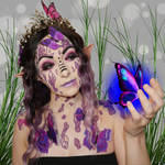 Purple elf maiden - Bodypaint