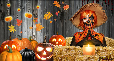 Pumpkin Scarecrow Wallpaper #1