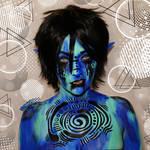 Maji, the elvish water wizard - Bodypaint