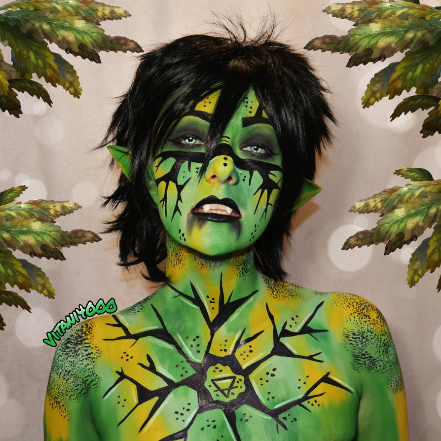 Dunia, the elvish earth witch - Bodypaint