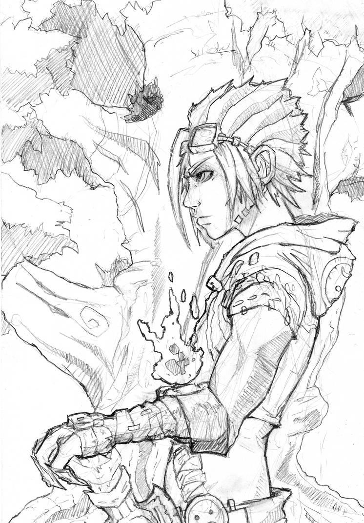 Single Line Character Art : Kira final character design line art by sole jo on