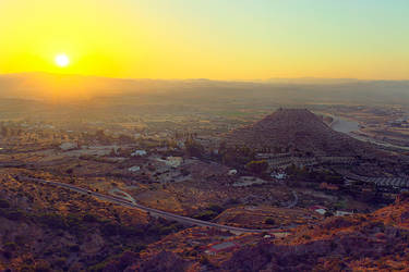 Sunset over Turre from Mojacar