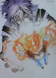 Tsuna and Byakuran by MonaYuki